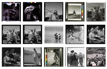 a grid of photographs by Toni Frissell from the Library of Congress